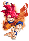 goku super saiyan god by bardocksonic-d7ppcr2