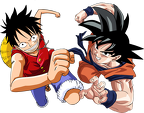 787407Goku Luffy by Jzk