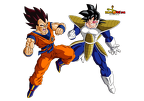 goku vs vegeta ex cloth copie