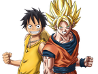 Dragon Ball z   One piece   Luffy   Sangoku   goku