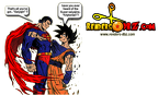 goku superman fight